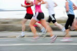 シンスプリントのすねの痛みが発生しやすいマラソン中の写真