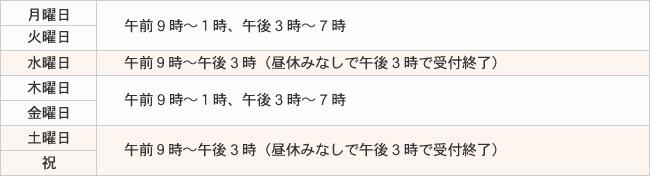 横浜西区のむちうち整骨院の営業時間