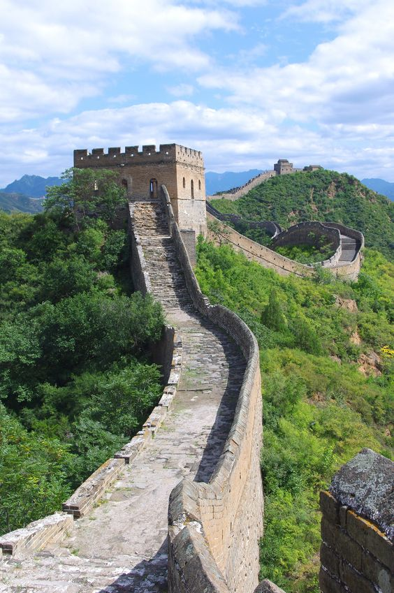 中国の万里の頂上の写真