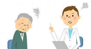 遠絡治療の整骨院「宮谷小交差点前せいこついん」の医師の説明に困惑する患者イメージ