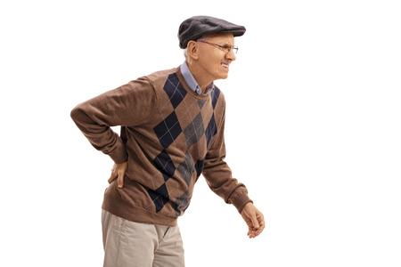 腰椎すべり症の歩行時の下肢が痛い人の写真