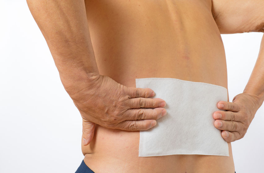 腰が痛いぎっくり腰の湿布治療の写真